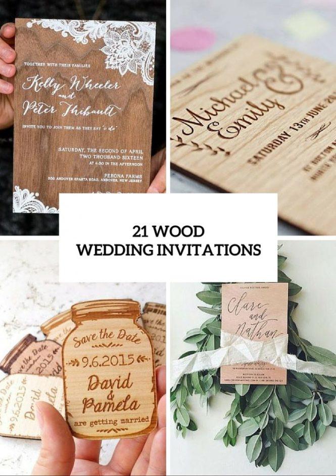 Wood Wedding Invitation Ideas