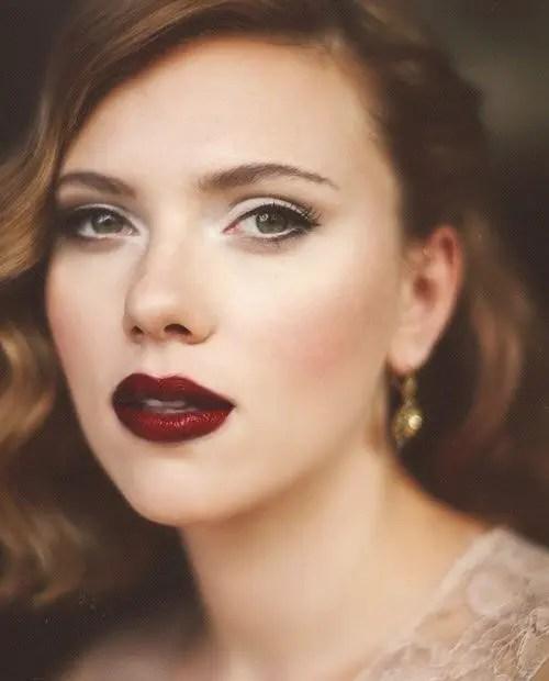 Scarlett Johansson vampy lips look