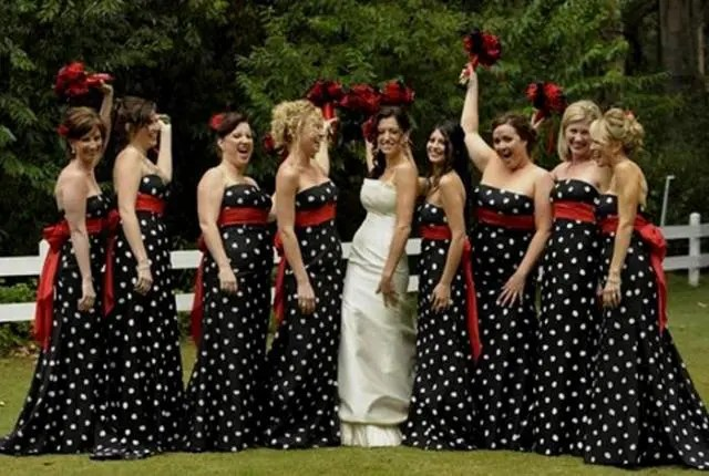 21 Unique Polka Dot Bridesmaid Dress Ideas