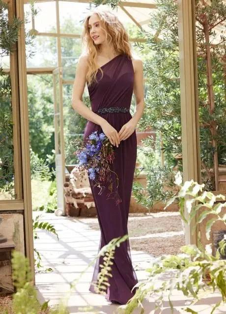 Gorgeous purple maxi dress with belt