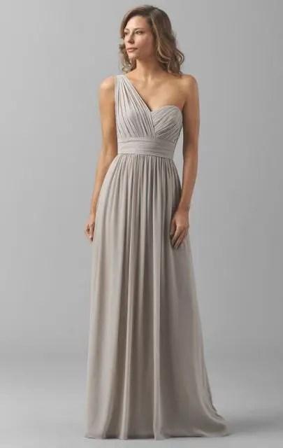 Monophonic draped maxi dress for fall weddings