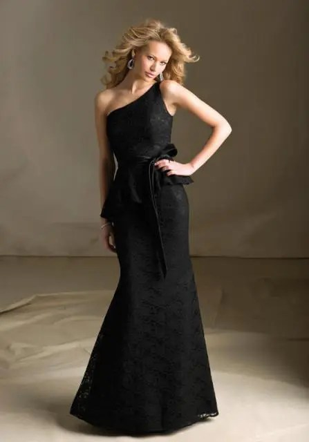 Perfect black maxi dress with peplum