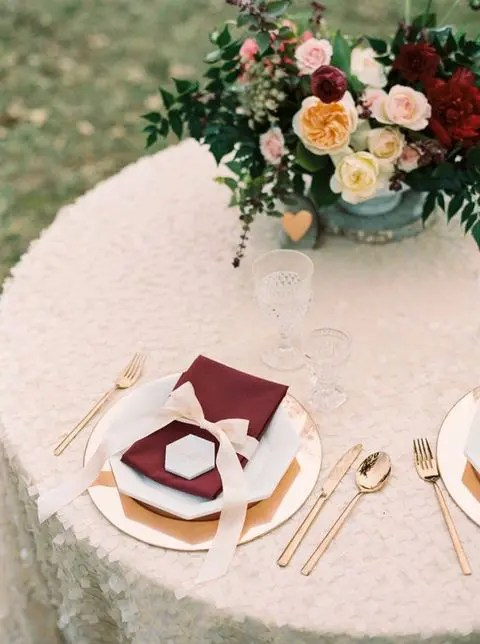 Fall Wedding Plates