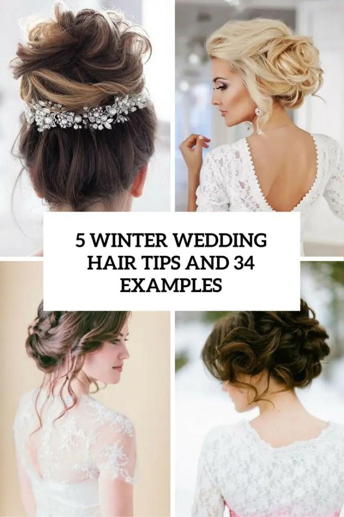 5 winter wedding hair tips and 34 examples - weddingomania