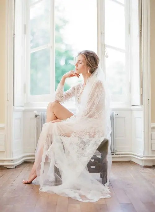delicate lace night gown is great for feminine and sweet photos