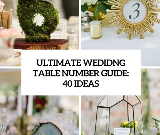 Ultimate Wedding Table Number Guide  Ideas Cover