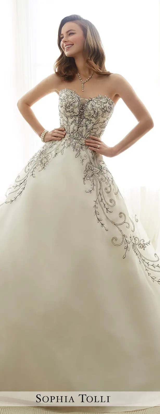 Sophia Tolli Spring 2017 Wedding Dress Collection - crazyforus