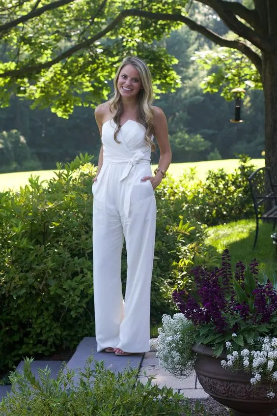modern draped jumpsuit with pockets