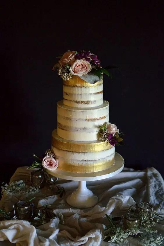 35 Delicious Semi Naked Wedding Cakes Weddingomania