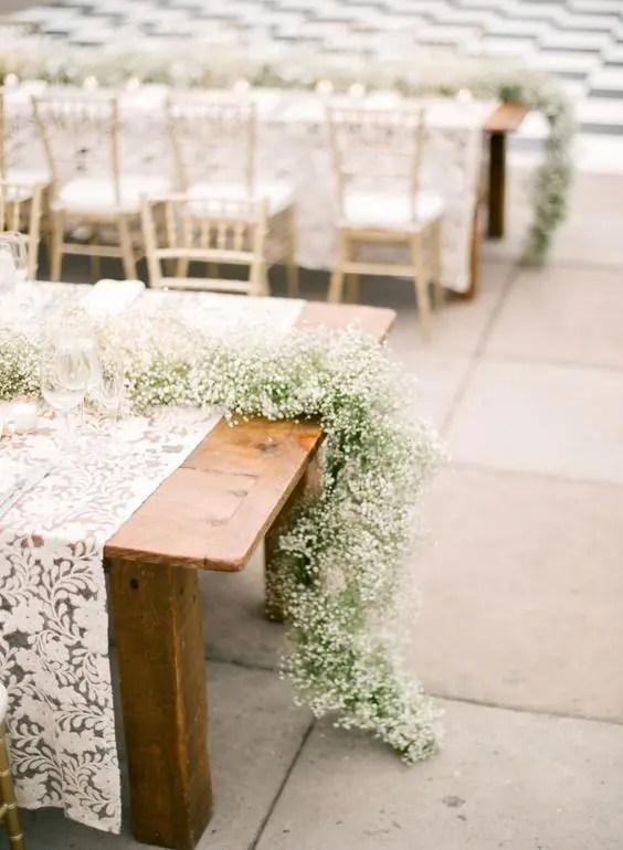 30 Timelessly Elegant Babys Breath Wedding Centerpieces