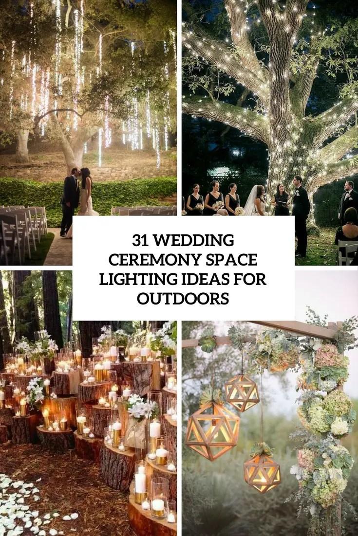 wedding ceremony space lighting ideas