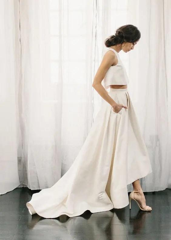27 Wunderschöne Minimalistischen Brautkleider Für Moderne ...