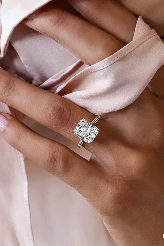 engagement shaped co cut halo rings gabriel princess square