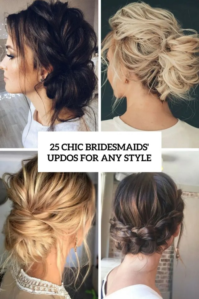 25 chic bridesmaids' updos for any style - weddingomania