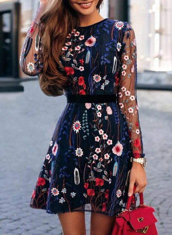Floral Dresses | Gorgeous Fall Wedding Guest Outfits