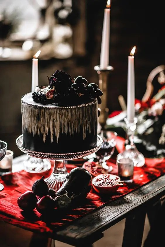 Jaw-Dropping Halloween Wedding Cakes