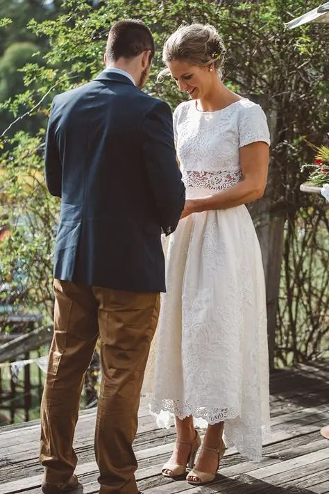 Bridal Midi Wedding Dresses To Stand Out