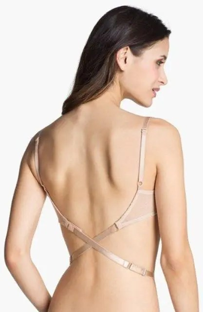 such a bra will fit an open back wedding gown or a wedding gown with a cutout back