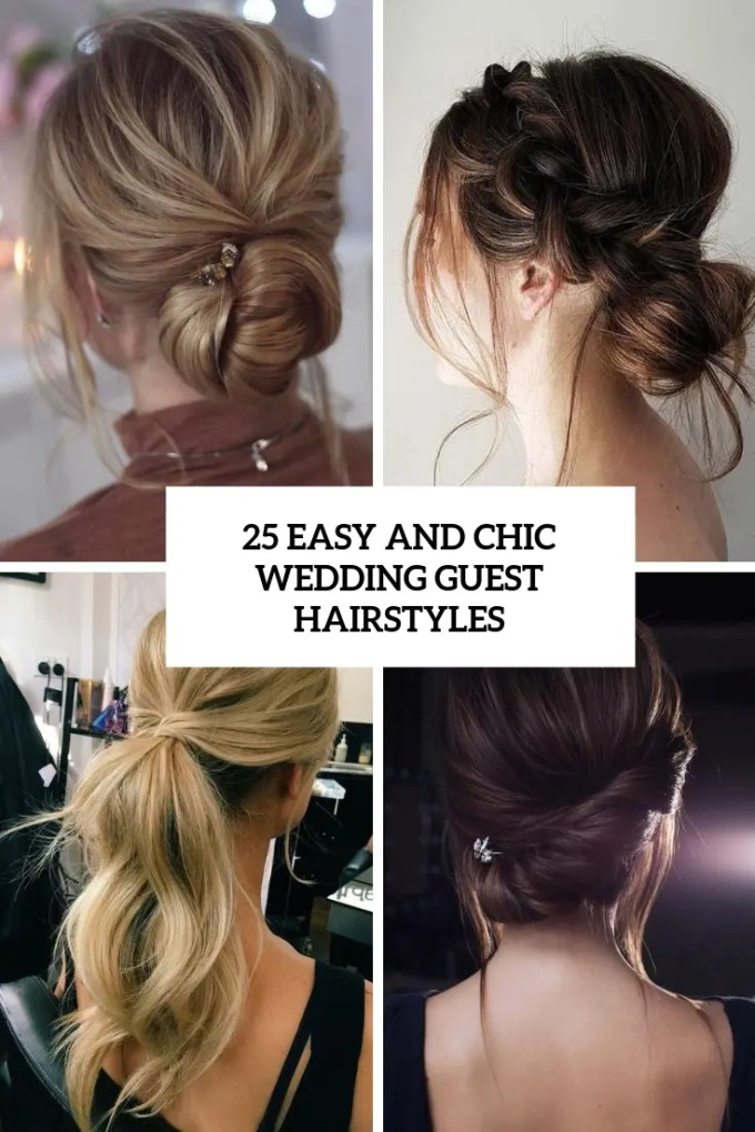 25 easy and chic wedding guest hairstyles - weddingomania