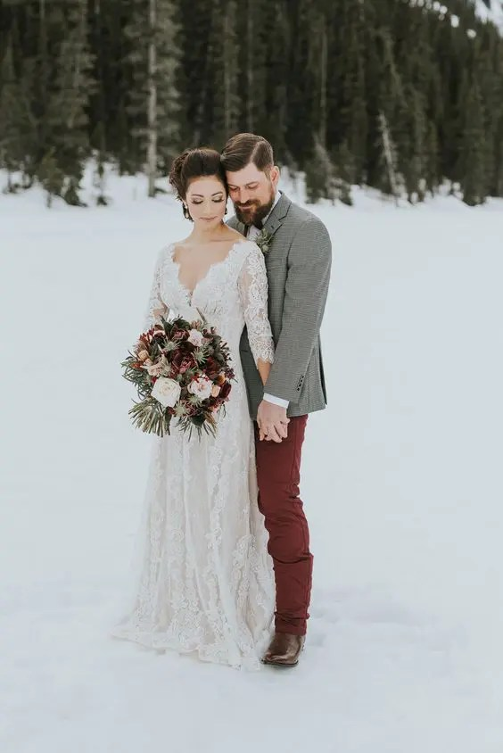 26 Utterly Romantic Christmas Wedding Dresses Crazyforus