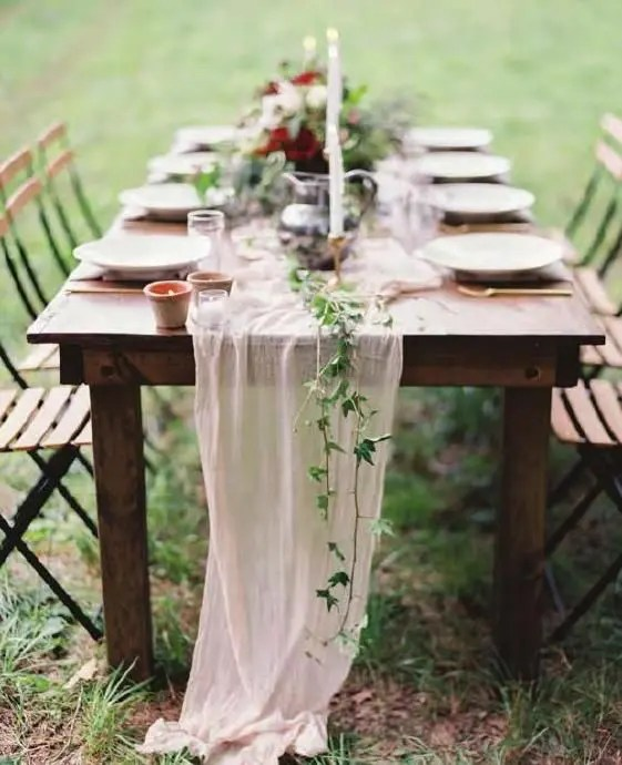 prefer more casual and less formal decor for your brunch wedding
