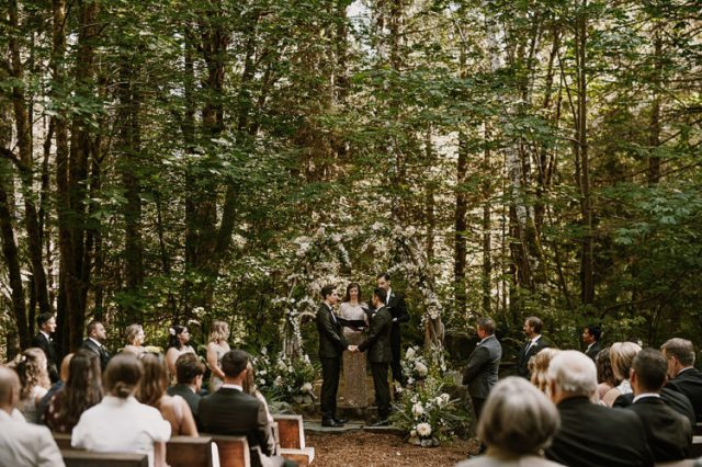 There were 100 guests and everyone had an amazing weekend in the woods