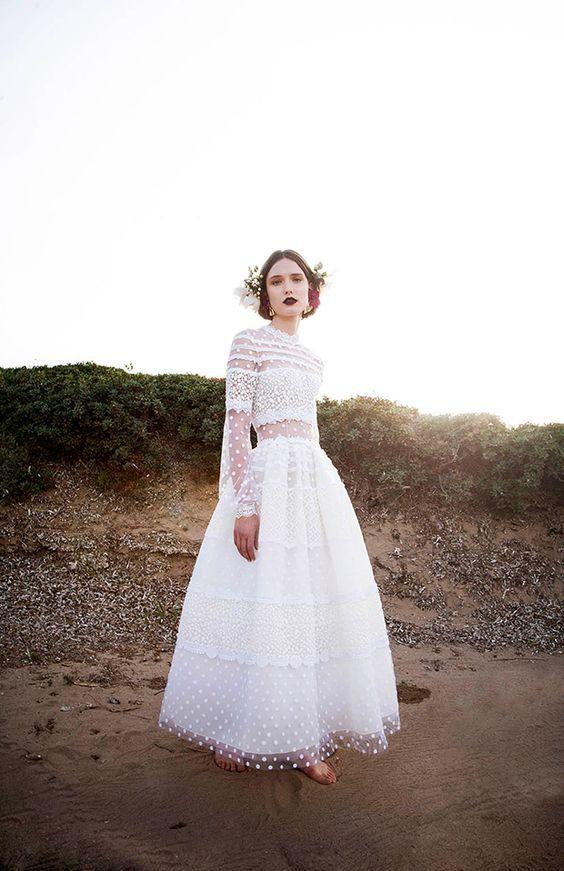 25 Whimsy And Catchy Polka Dot Wedding Dresses Crazyforus