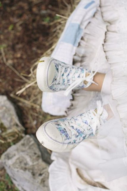 Colored Bridal Sneakers