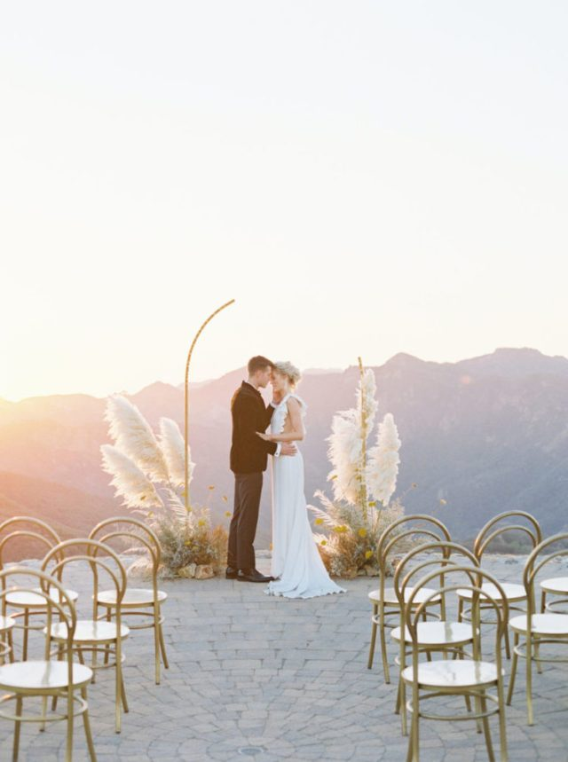Golden-Toned Engagement And Wedding Shoot