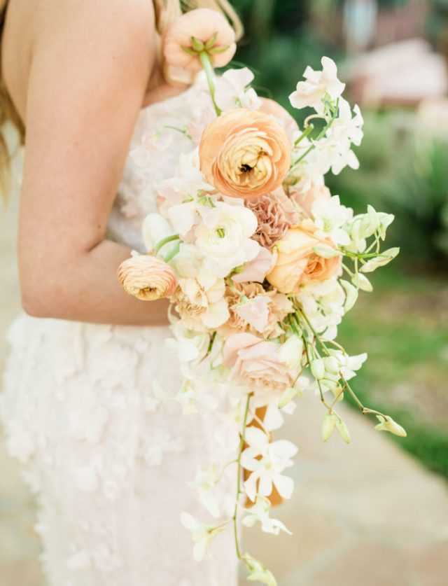 The blooms were bold and textural, with cascading