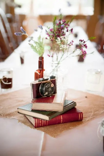 22 Vintage Camera Wedding Centerpieces Weddingomania