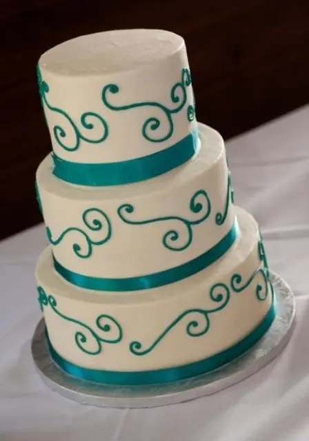 Black And Teal Wedding Cakes