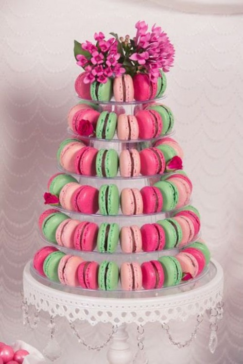 25 Trendy And Unique Macaron Tower Wedding Cakes