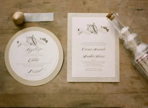 Diy Tropical Beach Wedding Invitation