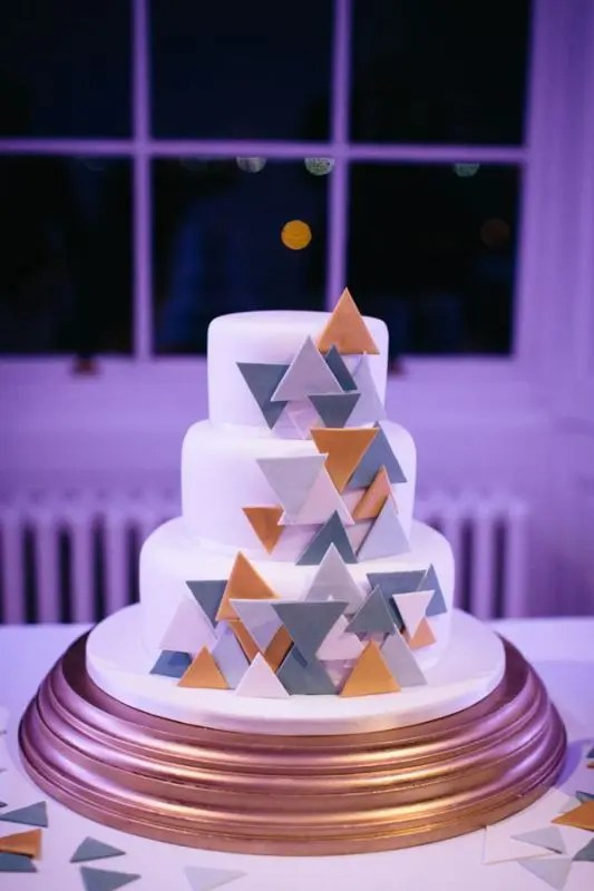 Picture Of Jaw Dropping Geometric Cake Designs For A