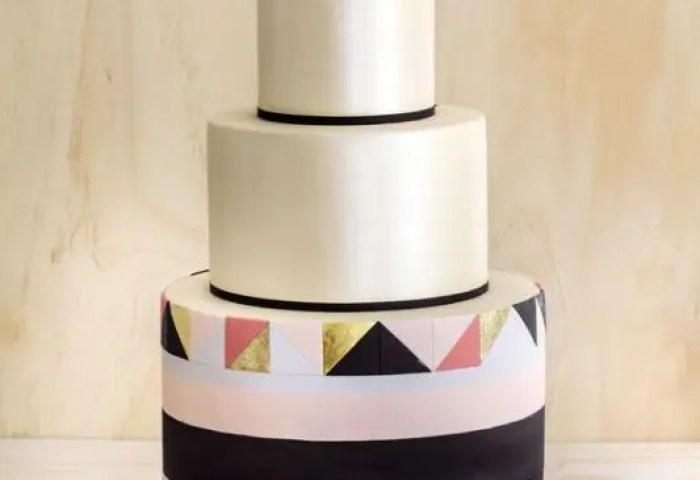 35 Jaw Dropping Geometric Cake Designs For A Modern Wedding