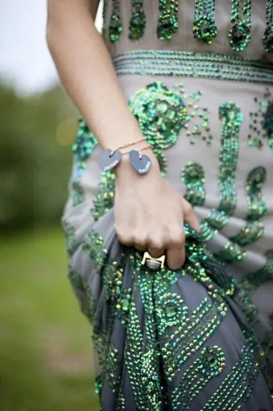 Emerald And Melon Wedding Colors
