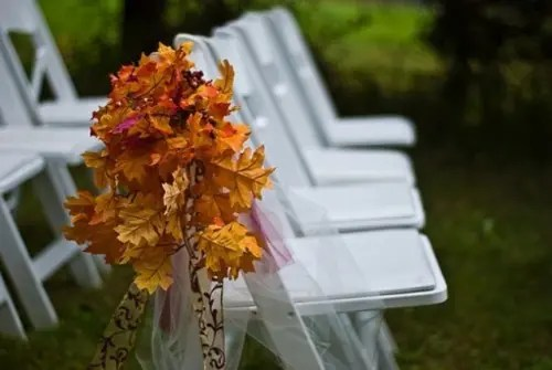 Fall Outdoor Wedding Decorations