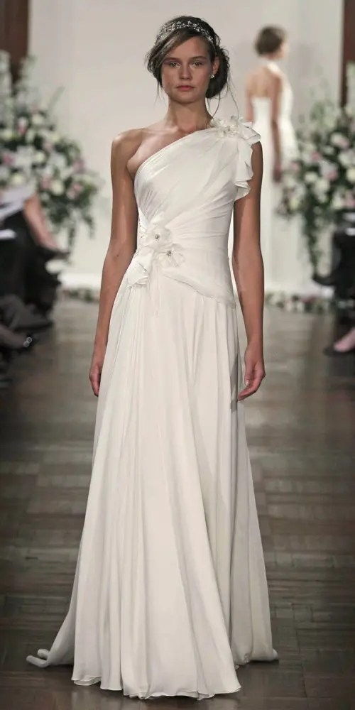 55 Chic And Romantic One Shoulder Wedding Dresses