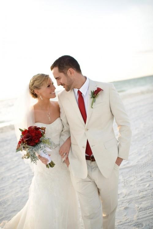Casual Clic Beach Wedding Attire Groom
