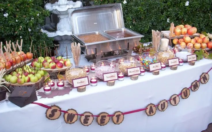 Picture Of A Sweet Fall Bar With Apples To Make Them