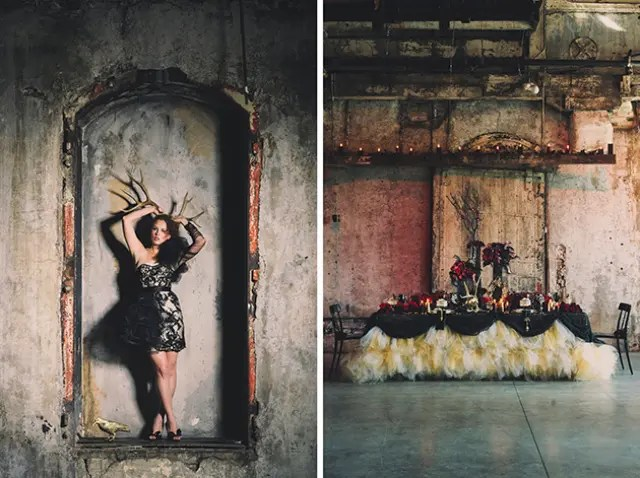 Picture Of Dramatic Alexander Mcqueen Inspired Wedding Shoot