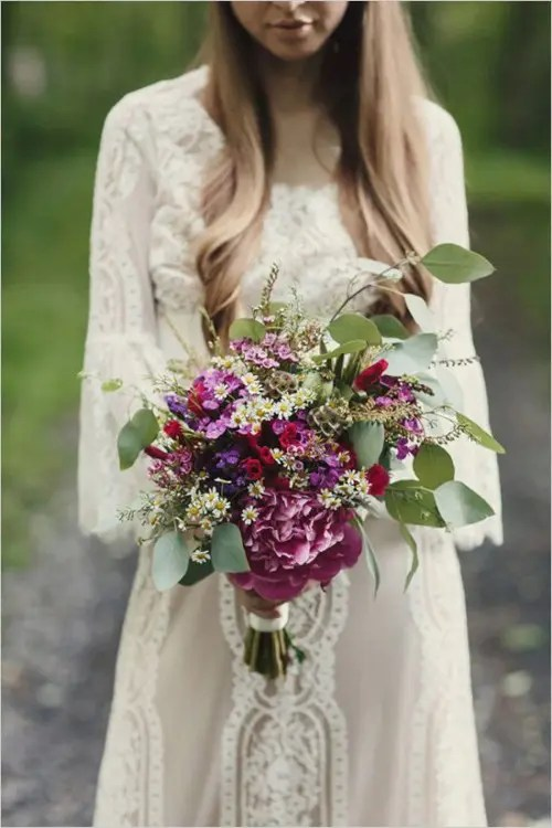 34 Dreamy And Relaxed Bohemian Wedding Bouquets