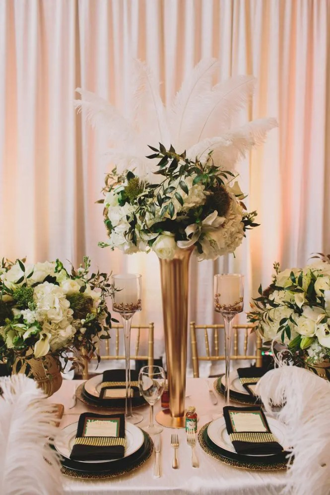 Glamorous Black White And Gold Wedding At The Resort Pelican Hill Photo By