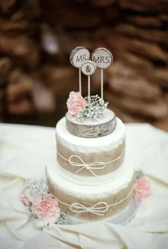 Faux Bois Wedding Cake