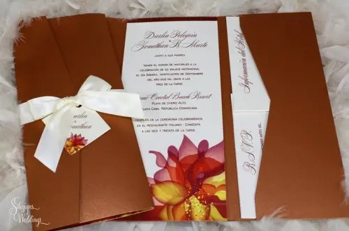 46 Stylish And Elegant Fall Wedding Invitations