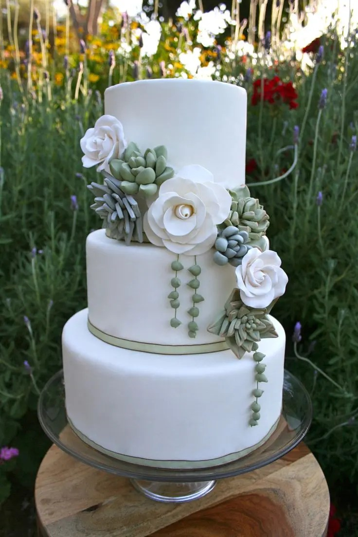 Picture Of succulent wedding cakes 13