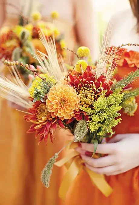 Fall Bridal Shower Table Decorations