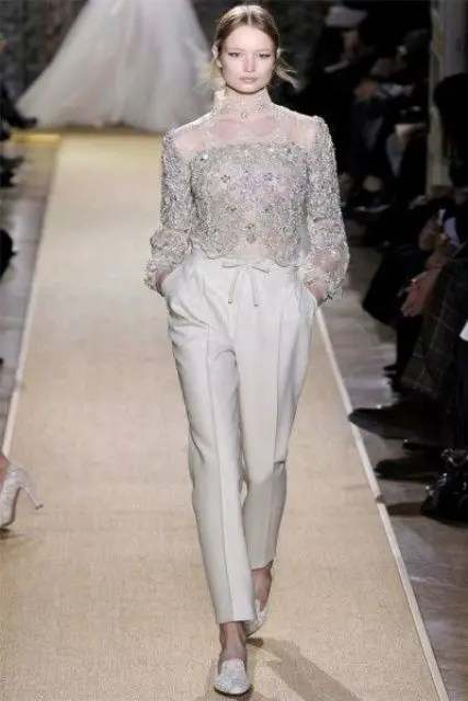 The Hottest 2014 Wedding Trend 41 Bridal Pantsuits