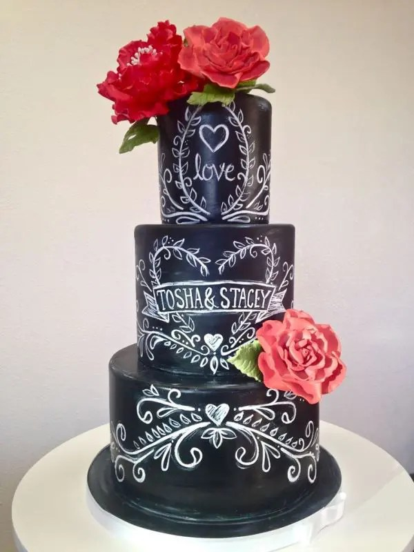 The Hottest 2015 Wedding Trend  30 Chalkboard Wedding Cakes     The Hottest 2015 Wedding Trend  30 Chalkboard Wedding Cakes
